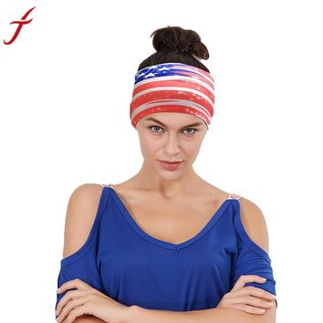Unisex Men American Flag Stripe Sporting Headband Head Wrap Ears Hair Bands haar accessoires Turban Hair Bands