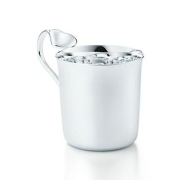 Tiffany & Co. -  Elsa Peretti® Full Heart baby cup in sterling silver.