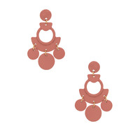 SHASHI April Earrings in Blush