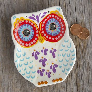 Folk  Owl  Small  Trinket  Dish  From  Natural  Life
