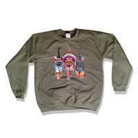 Native American Indian Cats Sweater 43