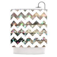 """Beth Engel """"After Party Chevron"""" Shower Curtain"""