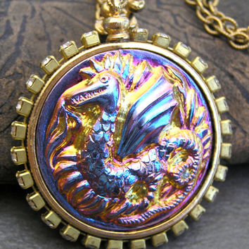 Dragon Necklace, Game of Thrones Inspired Jewelry, Gothic Dragon Pendant