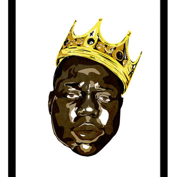 Curioos The Notorious B.I.G. / Biggie Smalls, 2014 by Delano Limoen (Framed)