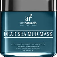 Art Naturals® Dead Sea Mud Mask for Face, Body & Hair 8.8 oz, 100% Natural and Organic Deep Skin Cleanser - Clears Acne, Reduces Pores & Wrinkles - Ultimate Spa Quality -Mineral Infused, Additive Free