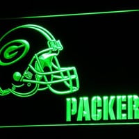 Green Bay Packers Helmet LED Neon Sign