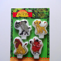 Vintage The Lion King NEW Birthday Candles 1994