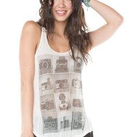 Brandy ♥ Melville |  Kay Vintage Camera Tank - Graphic Tops - Clothing