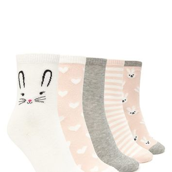 Hearts and Bunnies Sock Set