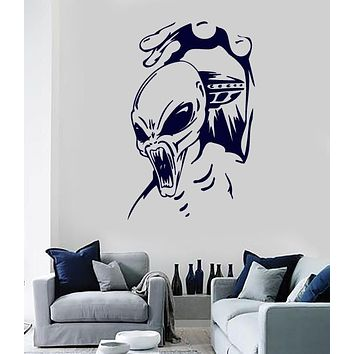 Large Vinyl Decal Alien Being Different Planet Unique Gift Wall Sticker (n638)