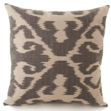 Ikat Design Pillow Cover - Gray  White from Martyn Lawrence-Bullard on OpenSky