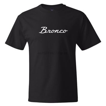 Ford Bronco Classic Car Vintage Logo T-shirts S-3XL Mens Summer Suitable Outdoor Tee