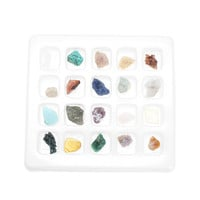 20pcs/Box Crystal Gemstone Reiki Polished Healing Chakra Stone Specimens Collection Set For Teaching Tool DIY Ornaments