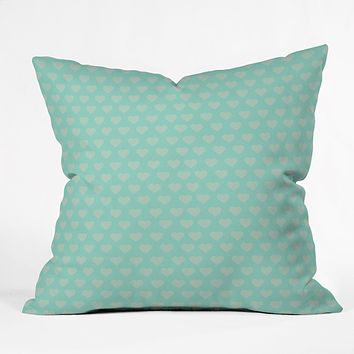 Allyson Johnson Blue Hearts Throw Pillow