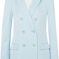 Tibi - Double-breasted satin-twill blazer