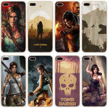 H327 Tomb Raider Transparent Hard Thin Case Cover For Apple iPhone XR XS Max 4 4S 5 5S SE 5C 6 6S 7 8 X Plus
