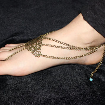 Slave Anklet Barefoot Sandles Sandal Beach Bohemian Gypsy Style