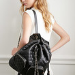 Quilted Faux Leather Backpack