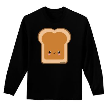 Cute Matching Design - PB and J - Peanut Butter Adult Long Sleeve Dark T-Shirt by TooLoud