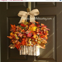 WREATHS ON SALE fall wreaths welcome fall autumn wreaths floral container for front door decorations orange  wreath fall wreaths