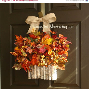 Wreaths On Sale Fall Wreaths Welcome Fall From Aniamelisa