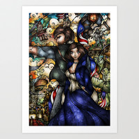 Put Your Faith In Her Art Print by Mandie Manzano