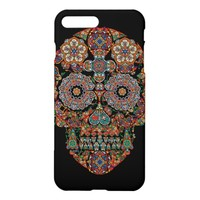 Colorful Flower Sugar Skull iPhone 7 Plus Case