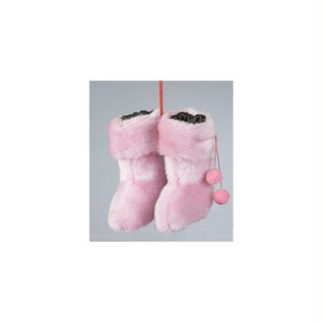 Christmas Ornament - Pink Furry Rave Boots