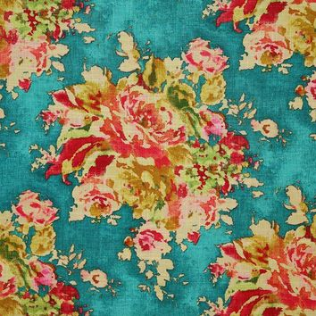 Pindler Fabric BOU126-BL01 Bouquet Turquoise