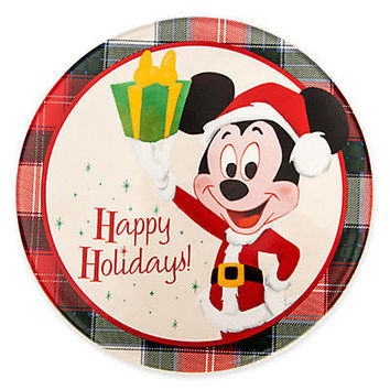 disney parks christmas mickey mouse retro happy holidays ceramic trivet new