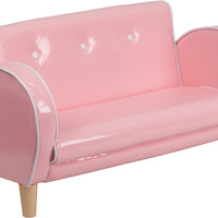 Kids Pink Loveseat