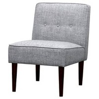 Slipper Chair with Buttons - Gray - Threshold™