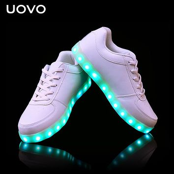Kids Luminous shoes USB Charger LED light shoes for boys girls neon glow shoes casual sneakers Lace Up Shoes