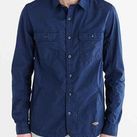 CPO Curved Hem Shirt Jacket- Navy