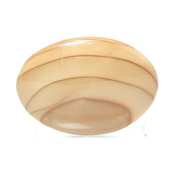 Willow Creek Porcelain Jasper Oval Cabochon Caramel Orbicular Jasper