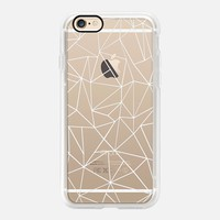 Cool Casetify iPhone 7 Case | Abstraction Outline White Transparent Design by Project M (iPhone 6s 6 Plus SE 5s 5c & more)