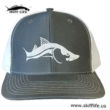Trucker Hats Meshback Gray with Snook Design