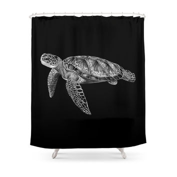 Society6 Sea Turtle 1 Shower Curtains