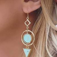 Balancing Act Earrings - Turquoise