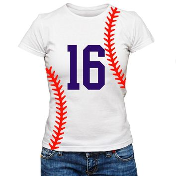 Personalized Custom Baseball Softball Number Team Shirt Laces