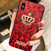 Dior New fashion letter diamond crown mobile iphone phone case cover