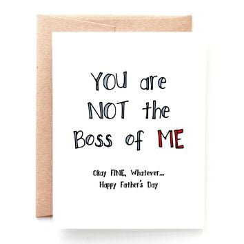 Boss Father's Day Card