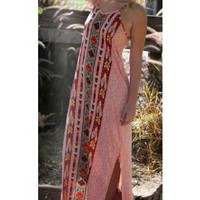 Angie Spaghetti Strap Maxi Dress With Vertical Stripes Print Dresses and Skirts Urban Western Wear