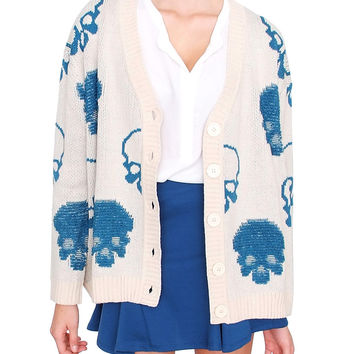 Conquer Me Cardigan - Oatmeal Print