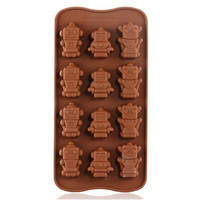 Silicone Robot Shaped Cake Mold & Ice Tray (Brown)