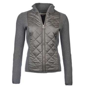 Sporting Zip Knit Jacket in Olive by Barbour - FINAL SALE