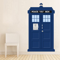 Doctor Who Tardis Police Call Box Vinyl Wall Decal - Dr Who Tardis