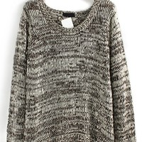 Destroyed High-low Heather Sweater - OASAP.com