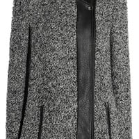 IRO Derby leather-trimmed bouclé jacket – 60% at THE OUTNET.COM