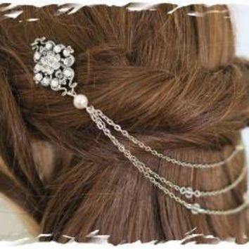 Crystal Bridal Headpiece | Crystal Hair Accessories | Wedding Hair Chain